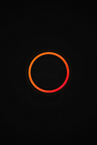 720x1280 Dark Simple Circle 4k