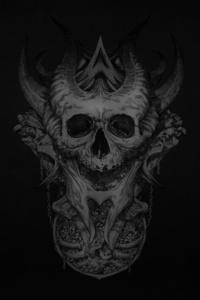 320x480 Dark Skull