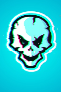 640x1136 Dark Skull Glitch 12k