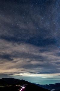 480x854 Dark Sky Stars Night Outdoors Night Sky Starry 8k