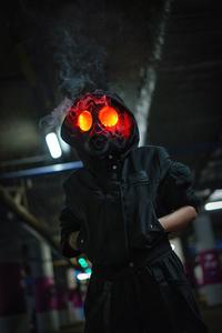 320x568 Dark Smoke Mask Hoodie Boy 5k