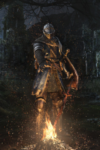 640x1136 Dark Souls Remastered Key Art 4k