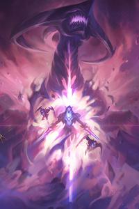 640x960 Dark Star Vs Cosmic League Of Legends 5k