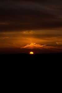 Dark Sunset Evening 4k