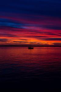 Dark Sunset Ocean