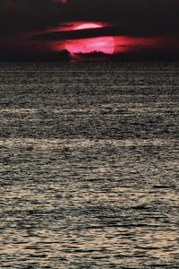 Dark Sunset Red Sea