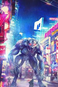 1242x2688 Dark Werewolf
