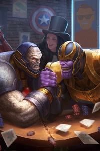720x1280 Darkseid Vs Thanos Artwork