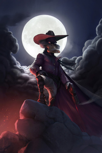 640x960 Darkwing Duck Art 4k