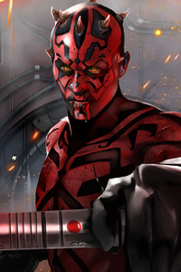320x568 Darth Maul Digital Art 5k
