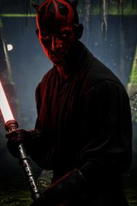 1242x2688 Darth Maul Star Wars Battlefront 2 4k