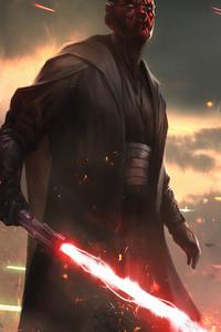 1440x2960 Darth Maul Star Wars Fanartwork