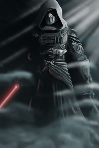 Darth Revan Star Wars With Lightsaber