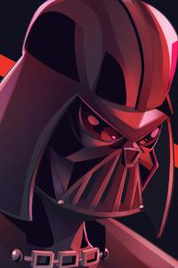 320x480 Darth Vader 4k Minimal Art
