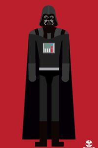 320x568 Darth Vader 4k Minimalism
