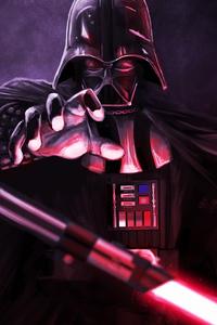 320x480 Darth Vader Art 4k