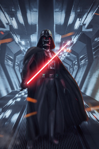 1242x2688 Darth Vader Dark Force