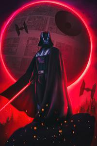 1242x2688 Darth Vader Digital Art 5k