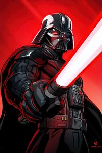 320x480 Darth Vader Fanart 4k