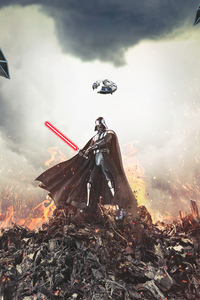 480x854 Darth Vader Force 4k