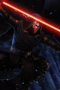 1080x2280 Darth Vader Laser