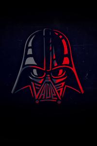 480x800 Darth Vader Minimal 4k