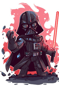 1440x2560 Darth Vader Minimal Art 4k