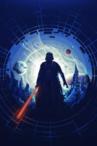 320x480 Darth Vader Minimal