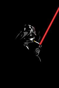 1080x2280 Darth Vader Minimalism 4k