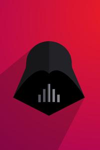 320x568 Darth Vader Minimalism 5k