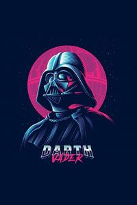 320x480 Darth Vader Minimalist Art