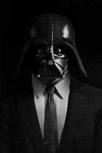 1242x2688 Darth Vader Star Wars Dark 5k