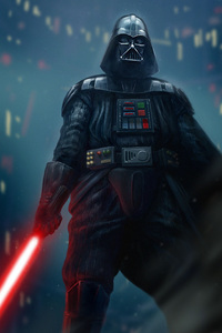1080x1920 Darth Vader Supervillain