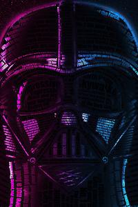 1280x2120 Darth Vader Typography