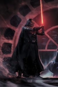320x568 Darth Vader Vs Luke Skywalker