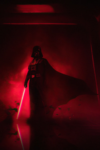 800x1280 Darth Vader Vs Mace Windu