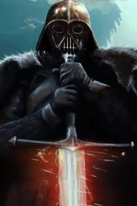 320x480 Darth Vader4k Art
