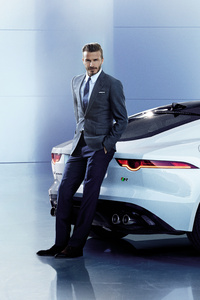 750x1334 David Beckham Jaguar 8k