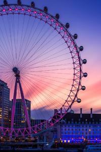 1242x2688 Dawn At The London Eye 4k