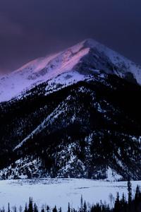 Dawn Mountain Nature Snow Winter