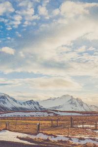 Daylight Risen Sun Snowy Mountains Road