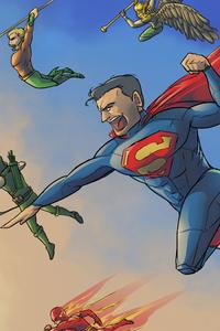 1242x2688 DC Superheroes Artwork 4k