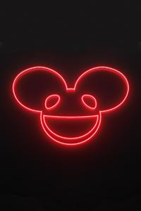 Deadmau5 Neon Logo 4k