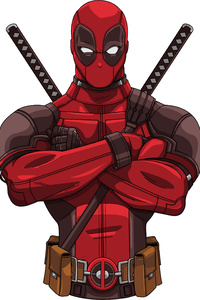 1125x2436 Deadpool 2 Movie Art