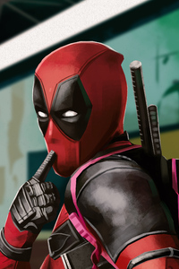 1080x2280 Deadpool 2020 Artwork 4k