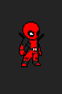 720x1280 Deadpool 8 Bit Art