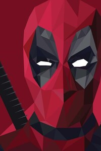 1242x2688 Deadpool Abstract Art