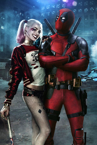 Deadpool And Harley Quinn Art