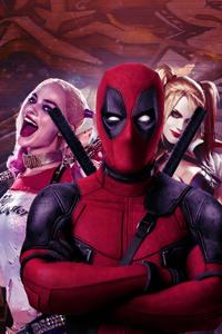 750x1334 Deadpool And Harley Quinn