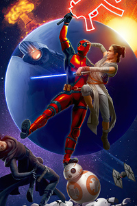 720x1280 Deadpool And Rey